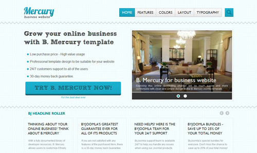 BJ Mercury Joomla template