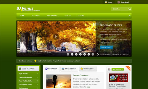 ByJoomla Venus Joomla 1.5 and 1.6 template