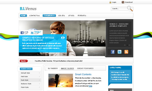 ByJoomla Venus 2 Joomla 1.5 and 1.6 template