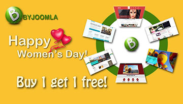 "ByJoomla' special ""Buy 1 get 1 free"" promotion"