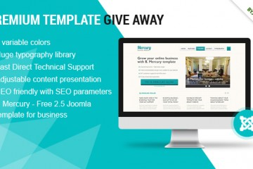 Get B Mercury PRO Version – FREE Joomla 2.5 Template